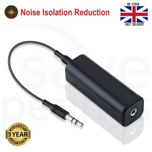 Ground Loop Noise Isolator Filter + 3.5mm AUX Cable For Home Car Stereo Audio