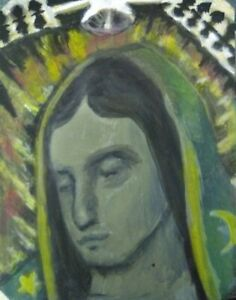 Original Painting oil cardstock small Miniture art work  JH Gutierrez art works