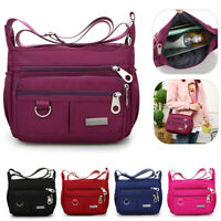 Women Waterproof  Nylon Light Weight Crossbody Shoulder Bag Travel Handbag Purse