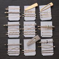 4Pcs/Set Pearl Hair Clip Hairband Comb Bobby Pin Barrette Hairpin Headdress