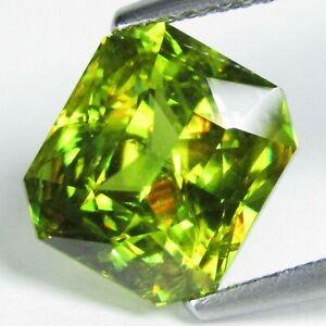 Sparkling Natural Greenish Yellow Sphene 6mm Round 1.25CT