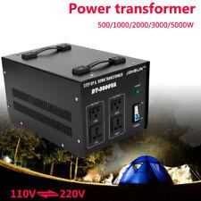 5000 Watt Electrical Power Voltage Converter Transformer Heavy Duty Ac 110⇋220V
