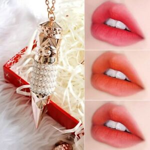 3 color in 1 Waterproof Long Lasting Pearl Necklace Matte Lip Gloss Lipstick