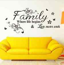 Family Love Removable Mural Wall Stickers Wall Decal for Living Room Home Decor