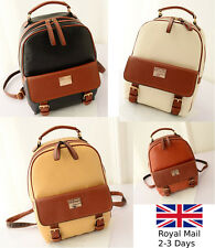 Fashion Women Ladies Girls Leather Backpack Shoulder Bag Rucksack Handbag Travel
