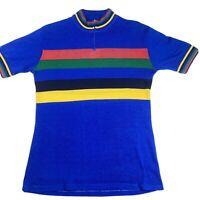 Vintage Large Wool Teresa Jackson Athletic Clothing World Champs Bike Jersey USA