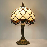 8 inch Retro Dragon tail Stained Glass Tiffany Style Table Bedside Reading Lamp