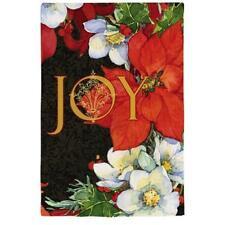 "New listing Evergreen Flag & Garden Joy Poinsettias Vertical Flag 12.5"" x 18"
