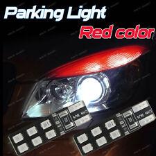 2-pc Red Color Error Free T10 2825 W5W LED Bulb For Car Parking Position Light D