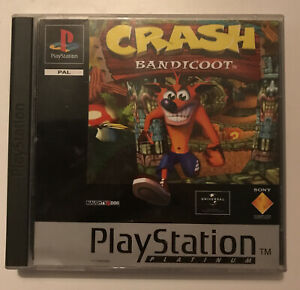 Crash Bandicoot ~ PlayStation PS1 Platinum Game ~ PAL *Excellent Complete*