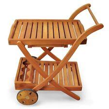 Beistellwagen Rollwagen Servierwagen Garten Outdoor Gartenmöbel Holz