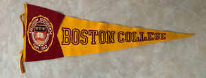 VINTAGE BOSTON COLLEGE PENNANT 30 By 12-1960's