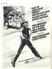 """BS213P11 JAMES BROWN : GET UP OFFA THAT THING ALBUM ADVERT 11X8"""""""