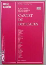 Cheret-Dany-Franquin-Hergé-Tillieux-Uderzo-Giraud-Carnet de dédicaces-SERG 1974