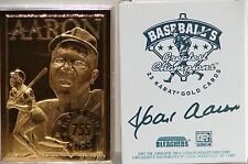 HENRY HANK AARON Atlanta Braves Baseballs Greatest Champions 23 Karat Gold Card