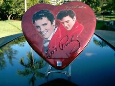RUSSELL STOVER  ELVIS PRESLEY  VALENTINE HEART  art work on tin  EMPTY ONE