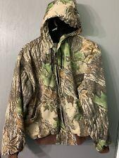 Walls Vintage Camo Realtree Hunting Jacket Large Lightweight W/ Hood