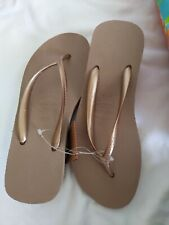 Brand New Havaianas Rose Gold High Fashion Wedge Flip Flops EU 41/42