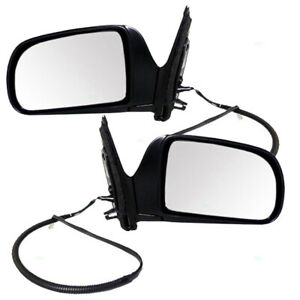 Fits Toyota Sienna 98-03 Van Set of Side View Power Ready-to-Paint Mirrors
