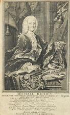 1753 Michael Richey Hamburg Kupferstich-Porträt Fritzsche