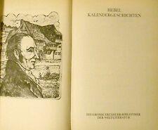 Johann Peter Hebel Kalendergeschichten (Die große Erzähler-Bibl. der Weltlit.)