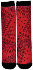 Magnum Knit Graphic Print Stretch Paisley Lowrider Bandana Sublimated Crew Sock