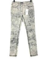 AIRFIELD Damen Jeans Hose Stretch Slim Fit Gemustert Gr.36 W30 L32 Grau NEU