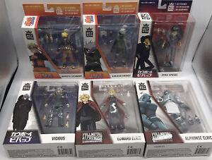 6 Figure BST AXN Anime Action Figure Lot-Naruto-Cowboy Bebop-Fullmetal Alchemist