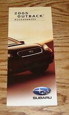 Original 2005 Subaru Outback Accessories Foldout Sales Brochure 05