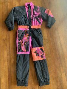 Vintage 90s Ocean Pacific Womens OP Pink Ski Snow Suit Snowboarding Size Medium