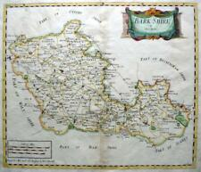 BERKSHIRE BY  ROBERT MORDEN  GENUINE ANTIQUE ENGRAVED MAP WITH HAND COLOUR c1695