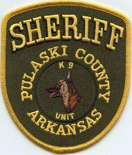 PULASKI COUNTY ARKANSAS AR K-9 SHERIFF POLICE PATCH