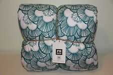 *NEW* Pottery Barn Teen Gemma Floral Super Pouf Comforter TWIN Sea Blue NWT