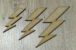 MDF Lightning Bolt shape, Embellishment, Paint, Colour, Crafting Supplies