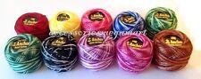 10 Variegated Anchor cotton crochet floss thread ball basic demanding colours