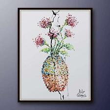 "40"" oil Vase with flowers, Original painting on canvas, handmade item, impesto"