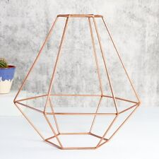 Sass and Belle Geometric Copper Lamp Shade, Contemporary Style
