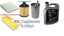 Kit TAGLIANDO FILTRI + 4 LT OLIO FORD 5W30 FIESTA V 1.4 TDCI  50kw