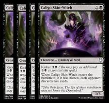 PRESALE- 4/27  Caligo Skin-Witch X4 -NM- Dominaria MTG Black Common