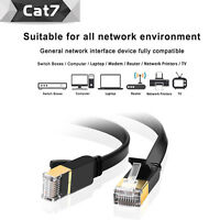 Premium CAT7 Shielded 10 gb Gold Plated & Shielded RJ45 Ethernet Patch Cable LOT