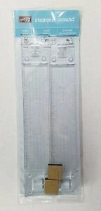 """Stampin Up Stampin Around Wheel Guide 12"""" Snap Clear Ruler Non Skid Scrapbook"""