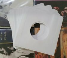 "40 x NEW WHITE PAPER VINYL RECORD SLEEVES FOR SINGLES EP 45'S OR 7"" VINYL 20lb"