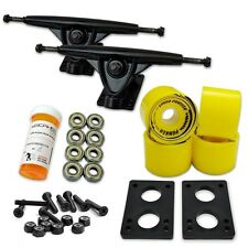 HD7 Longboard Combo set - Black trucks (Solid Yellow)