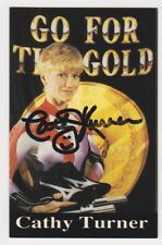 CATHY TURNER SIGNED GO FOR THE GOLD BUSINESS CARD SPEED SKATEER AUTO SIGNED JSA