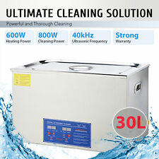 30L Liter Ultrasonic Cleaner Industry Cleaning Equipment Heater W/ Timer Digital