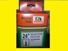 """24""""x3"""" 3.0 DURO Bike bicycle Tube Schrader Valve Chopper Rat Rod Cruiser 2.35"""