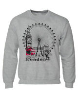 LONDON WHEEL LOGO Pullover SWEAT SHIRT Souvenir Gift UNISEX BEST QUALITY