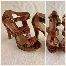 Orange Leopard Women's Sandals By Chinese Laundry Size 9.5