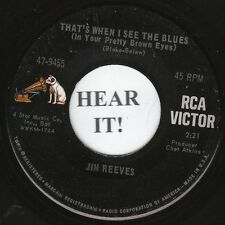 Jim Reeves C&W 1968 45 (RCA 9455) That's When I See The Blues/I've Lived A   VG+