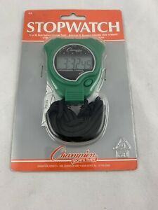 New Champion All Sports Walking Running Stopwatch Timer Daily Alarm Green - H07